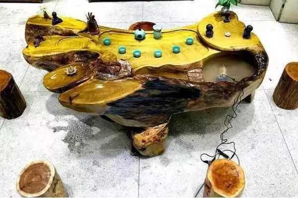 极品金丝楠根雕茶桌,美到无能人及!