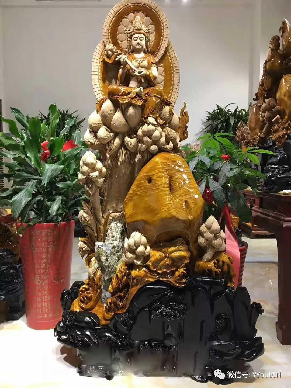 中国纯手工金丝楠木雕神作《观音》大师精工,高端大气馆藏级!